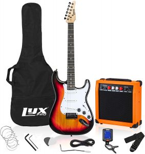 lyxpro electric guitar starter kit pack